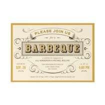 Unique Vintage BBQ Invitations by UniqueInvites