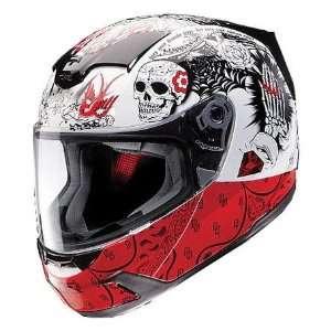 Venon Molotov Full Face Motorcycle Helmet White/Red Large L 0101 5560