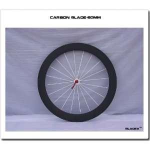 pair 60mm tubular toray full carbon fiber road bike/bicycle wheels 1