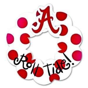Alabama Crimson Tide Alabama Roll Tide Wood Wreath