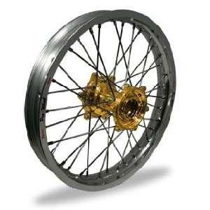 Pro Wheel Supermoto Rear Wheel Set   17x4.25   Silver Rim/Gold Hub 27