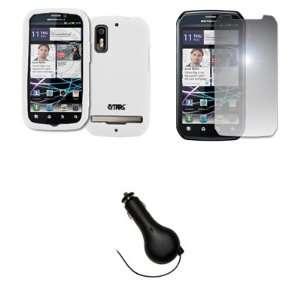 EMPIRE White Silicone Skin Case Cover + Mirror Screen