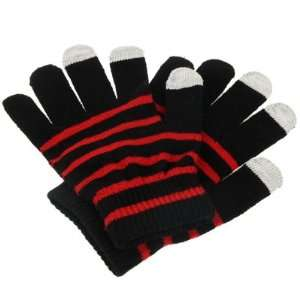SmartPhone Gloves for your Touch Screen Phone (Black/Red