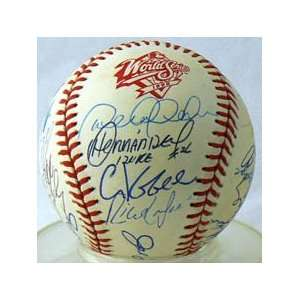 1998 New York Yankees Team Signed World Series Baseball