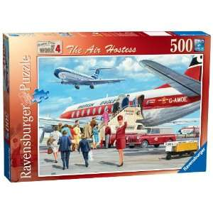 Happy Days at Work Air Hostess 500 Piece Puzzle: Toys & Games