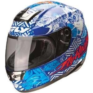 Fly Racing Paradigm Winners Circle Blue/White Helmet   Color  Blue