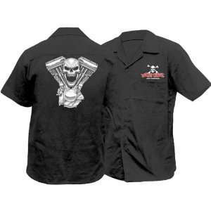 Lethal Threat Designs Evil Twin Mens Work Fashion Shirt