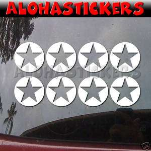 Xsmall WW2 MILITARY ARMY STAR Vinyl Decal Sticker M48X