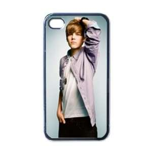 Justin Bieber Apple iPhone 4 Hard Case Cover Black
