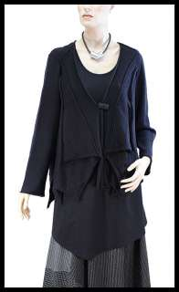 ZUZA BART super soft cuddly baby merino wool cardigan M/L black