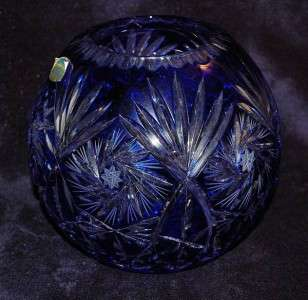 Polonia Lead Crystal 24% PbO Vase Made In Poland