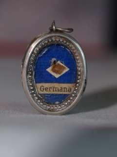 BEL ANCIEN RELIQUAIRE SAINT GERMAINE GERMANA ARGENT 19E RELIQUARY