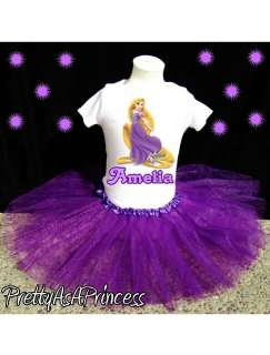 BIRTHDAY TANGLED RAPUNZEL TUTU OUTFIT PURPLE DRESS AGES 1 5