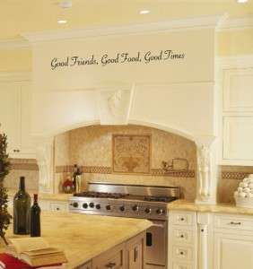 Good Friends Food Times Vinyl Wall Art Word Art