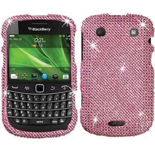 BABY PINK DIAMOND BLING CRYSTAL FACEPLATE CASE COVER BLACKBERRY BOLD
