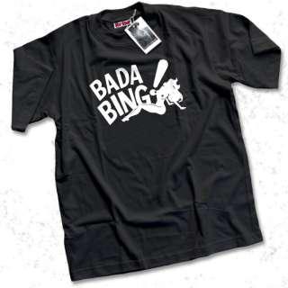 Bada Bing Mens Black T Shirt Sopranos Tony Soprano WOW