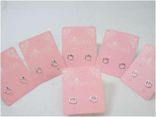WHOLESALE LOT OF 18 Hello Kitty CRYSTAL STUDS EARRINGS