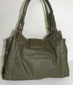 NEW NINE WEST ZIPSTER SHOPPER TOTE LARGE BAG GREEN