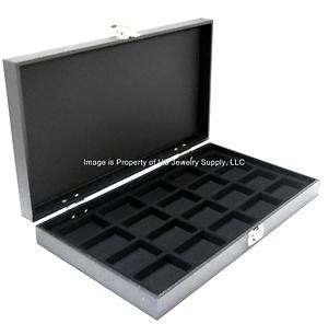 Solid Top 20 Zippo Lighter Black Collectors Display Case