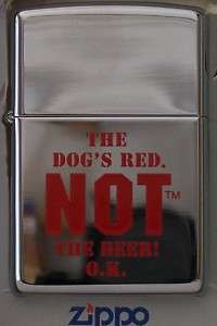 Zippo Lighter RED DOG THE DOGS RED NOT THE BEER O.K.