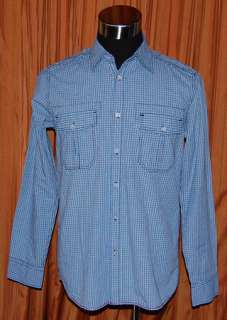 Eighty Eight LONG SLEEVE BLUE SHIRT MENS SMALL NWOT