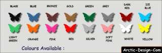 168 Butterflies Wall Art Stickers Butterfly Wall Decals
