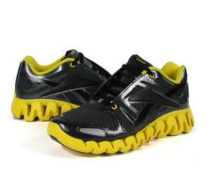 Fast Delivery Reebok Zig Dynamic v51105 Black / Gravel / Blaze Yellow   Reebok   Mens   2011