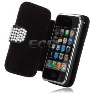 Ecell   CLEAR HELLO KITTY LEATHER BLING CASE FOR iPHONE 3G