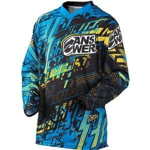 Motocross/Off Road/Dirt Bike Motorcycle Jersey   Blue/Yellow / X Large