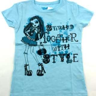 MONSTER HIGH Frankie Stein Girls T SHIRT Size S 7 M 8/10 L 12/14 XL 16