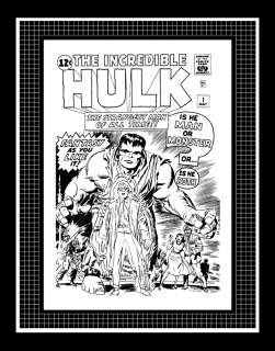 Jack Kirby Incredible Hulk #1 Rare Production Art Cover
