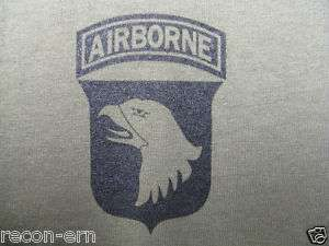 101ST AIRBORNE T SHIRT/ FRONT PRINT ONLY