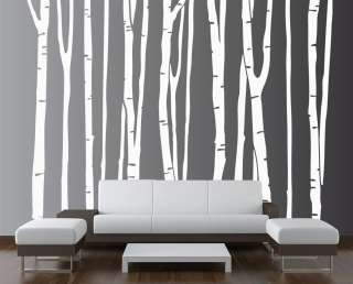 Wall Decal Forest Deco Vinyl Sticker Removable (9 trees) #1109