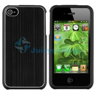 Black Aluminum+Orange Hard Brushed Cup Shape Case Cover For iPhone 4