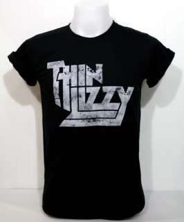 Thin Lizzy Vintage Black T Shirt Irish Hard Rock S XL