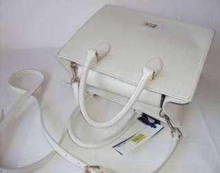 Dooney & Bourke Dillen II Janine IVORY WHITE Leather Satchel Handbag