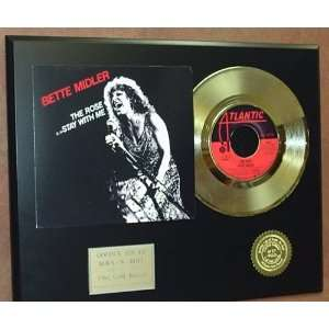 BETTE MIDLER GOLD 45 RECORD PICTURE SLEEVE LIMITED EDITION