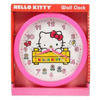 Sanrio Hello Kitty Wall Clock Analog Girls Kids Playroom Bedroom Tell