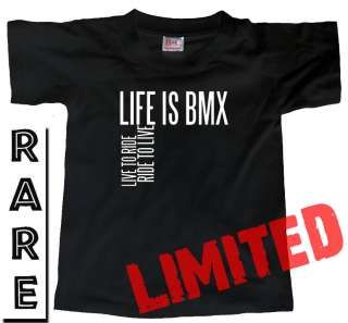 LIFE IS BMX, LIVE TO RIDE (Bike Bicycle) RACING T SHIRT