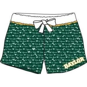 Baylor University Bears BU NCAA Ladies Boxer Style Pajama