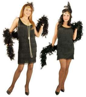 Roaring 1920s FASHION FLAPPER HALLOWEEN COSTUME 20s Dress Adult 00768