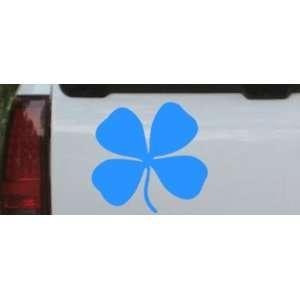 Four Leaf Clover Car Window Wall Laptop Decal Sticker    Blue 20in X