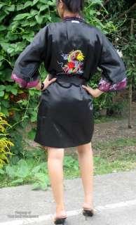 Reversible 100% Thai SIlk Dark Purple Unisex Gown szXXL