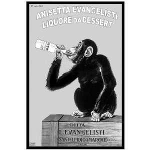 11x 14 Poster. B & W  Italian Liquore da Dessert  Ad Poster. Decor