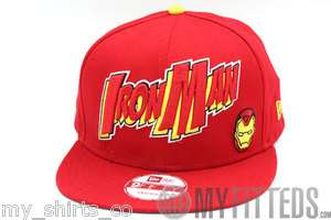 Iron Man Marvel Comics Red Yellow White 9Fifty Authentic New Era