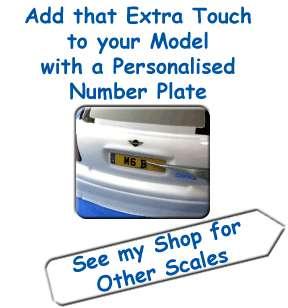 NUMBER PLATE SET Model Car Sticker Set *118 & 124th*