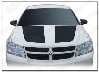 Dodge Avenger Hood Graphics Stripe Decal Kit 2008 2011