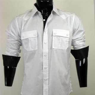 Vintage Red Mens Button Down Poplin Shirt
