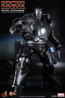 HOT TOYS IRONMAN IRON MONGER OBADIAH STANE VILLAIN JEFF BRIDGES LED 17