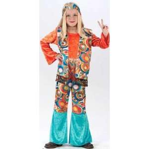 Groovy 60s Pop Art Hippie Girls Halloween Costume Size